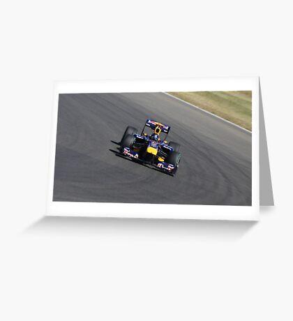 Red Bull RB6, Sebastian Vettel Greeting Card