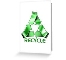 3d Recycle Design Greeting Card