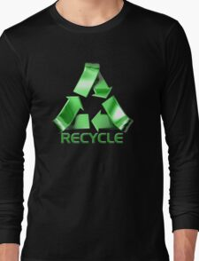 3d Recycle Design Long Sleeve T-Shirt