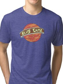 Blips and chitz logo from Rick and Morty in color Tri-blend T-Shirt