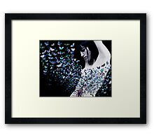 butterfly in my stomach  Framed Print