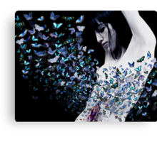 butterfly in my stomach  Canvas Print