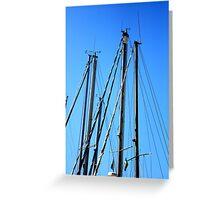 Masts. Greeting Card