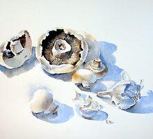 Mushrooms and Garlic by Ann Mortimer