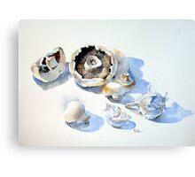 Mushrooms and Garlic Canvas Print