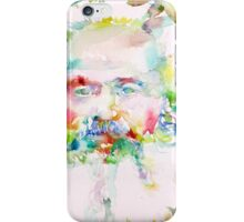 KARL MARX - watercolor on paper iPhone Case/Skin