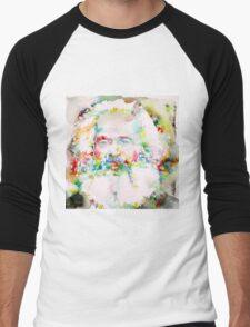 KARL MARX - watercolor on paper Men's Baseball ¾ T-Shirt