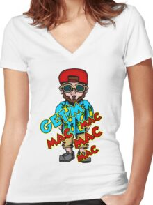 Get'm Mac Women's Fitted V-Neck T-Shirt