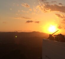 Sunset over Griffith Park Observatory Sticker