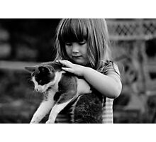 Brooke and her kitty Photographic Print