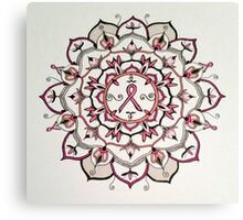 Pink Ribbon Mandala Canvas Print