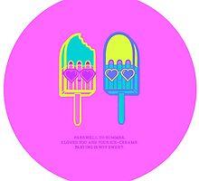 Summer Ice cream Haiku  by George Rose