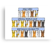 Birthday cats for May 7th Canvas Print