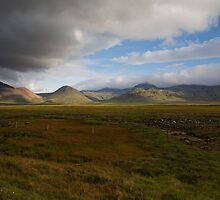 Iceland Landscape on the drive from Reykjavik to Stykkishólmur by hinomaru