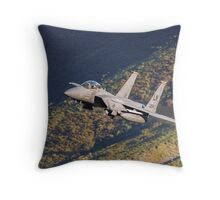 F-15 Eagle in the Mach Loop, Wales Throw Pillow