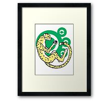 World in the palm of your hand (Green) Framed Print