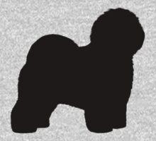Old English Sheepdog Silhouette by Jenn Inashvili