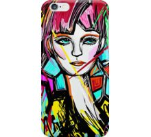Abstract Colorful Red Head Girl iPhone Case/Skin