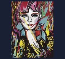Abstract Colorful Red Head Girl Kids Clothes
