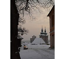 A sunset in Eger Photographic Print