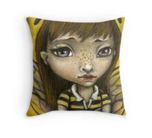 Bernie - the honey bee girl Throw Pillow