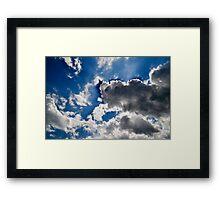 White clouds, Blue Sky Framed Print