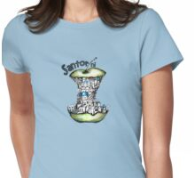 Santorini keeps the doctor away Womens Fitted T-Shirt