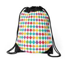 Rainbow Harlequin Pattern  Drawstring Bag