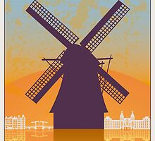 Amsterdam vintage poster by paulrommer