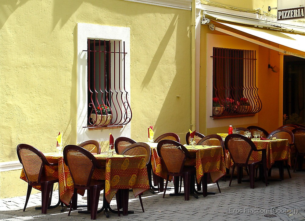 Waiting for the lunch crowd, Orange, France by Eros Fiacconi (Sooboy)
