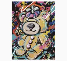 Stuffed Teddy Bear with Beanie Abstract Kids Clothes
