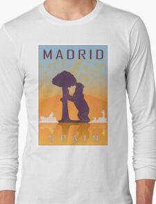 Madrid vintage poster Long Sleeve T-Shirt