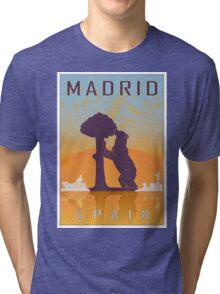 Madrid vintage poster Tri-blend T-Shirt