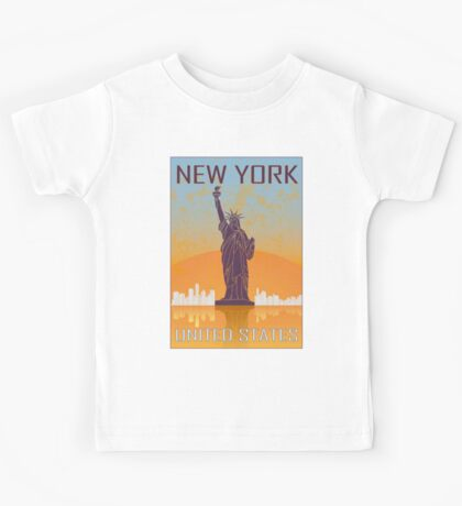 New York vintage poster Kids Tee