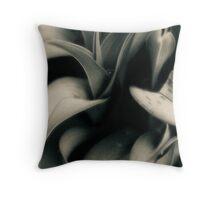 A Spring Garden Morning Throw Pillow