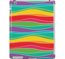 Retro Mod Rainbow Waves iPad Case/Skin