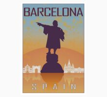 Barcelona vintage poster One Piece - Short Sleeve