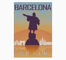 Barcelona vintage poster Kids Tee