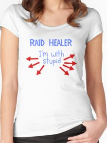 Raid Healer Women's Fitted Scoop T-Shirt