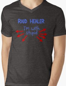Raid Healer Mens V-Neck T-Shirt