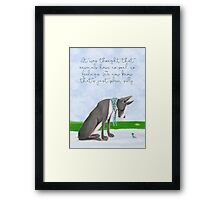 Tender, Great Dane, bird, lady bug, friends Framed Print