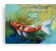 Zen Butterfly Koi Canvas Print