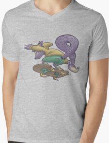 Skater Fox Demon Mens V-Neck T-Shirt