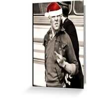 Oi! Santa Greeting Card
