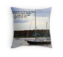His wonders in the deep... Throw Pillow