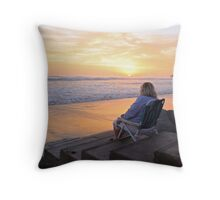 Ocean veiw Throw Pillow