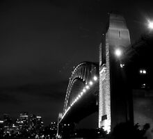 Sydney Harbour Bridge, Black & White! by Bernie Stronner