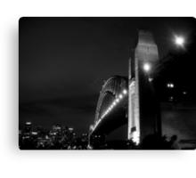 Sydney Harbour Bridge, Black & White! Canvas Print