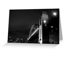 Sydney Harbour Bridge, Black & White! Greeting Card