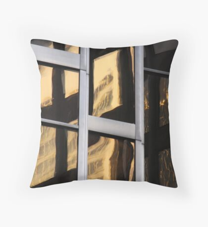to reflections, too Throw Pillow